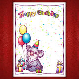 Vektorillustration av hälsningar för lycklig födelsedag Royaltyfria Foton