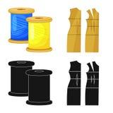 Vektorillustration av hantverket och att handcraft logo Samling av hantverk- och branschvektorsymbolen f?r materiel vektor illustrationer