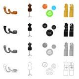 Vektorillustration av hantverket och att handcraft logo St?ll in av hantverk- och branschvektorsymbolen f?r materiel royaltyfri illustrationer