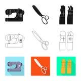Vektorillustration av hantverket och att handcraft symbolen Samling av hantverk- och branschmaterielsymbolet f?r reng?ringsduk royaltyfri illustrationer