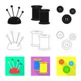 Vektorillustration av hantverket och att handcraft tecknet Samling av hantverk- och branschvektorsymbolen f?r materiel royaltyfri illustrationer