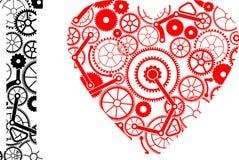Vektorillustration av hjärtor Royaltyfria Foton