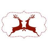 Vektorillustration av hjortar Arkivfoto