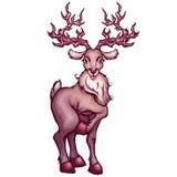 Vektorillustration av hjortar i tecknad filmstil Royaltyfri Bild