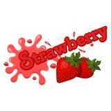 Vektorillustration av jordgubbefärgstänk Arkivfoton