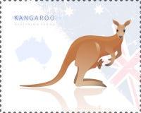 Vektorillustration av kängurun royaltyfri illustrationer