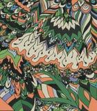 Vektorillustration av klotterteckningen Abstrakt begrepplinjer, kurvor Royaltyfri Fotografi