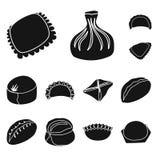 Vektorillustration av kokkonst och aptitretarelogoen Ställ in av illustration för kokkonst- och matmaterielvektor royaltyfri illustrationer