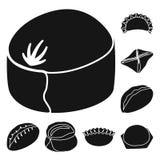 Vektorillustration av kokkonst och aptitretaresymbolen St?ll in av kokkonst- och matvektorsymbolen f?r materiel royaltyfri illustrationer