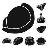 Vektorillustration av kokkonst och aptitretaresymbolet Ställ in av illustration för kokkonst- och matmaterielvektor royaltyfri illustrationer