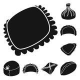 Vektorillustration av kokkonst och aptitretaretecknet St?ll in av kokkonst- och matvektorsymbolen f?r materiel vektor illustrationer