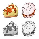 Vektorillustration av konfekt och den kulinariska symbolen Samling av konfekt- och produktvektorsymbolen f?r materiel stock illustrationer