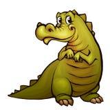 Vektorillustration av krokodilen i tecknad filmstil Arkivfoton