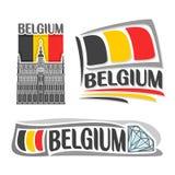 Vektorillustration av logoen för Belgien Fotografering för Bildbyråer