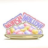 Vektorillustration av marshmallowen royaltyfri illustrationer