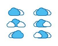 Vektorillustration av molnsamlingen Royaltyfri Fotografi