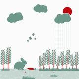 Vektorillustration av naturliv Stock Illustrationer
