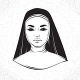 Vektorillustration av nunnan Arkivfoton