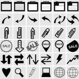 Vektorillustration av olika symboler Royaltyfri Foto