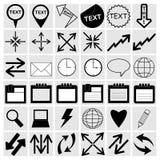 Vektorillustration av olika symboler Royaltyfria Bilder