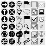 Vektorillustration av olika symboler Arkivfoton