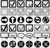 Vektorillustration av olika symboler Royaltyfri Fotografi