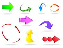 Vektorillustration av pilen 3d Arkivbild