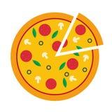 Vektorillustration av pizza Vektor Illustrationer