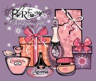Vektorillustration av porfumeflaskor Royaltyfri Fotografi