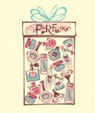 Vektorillustration av porfumeflaskor Arkivfoto