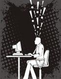 Vektorillustration av programmerareidén royaltyfri illustrationer