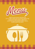 Restaurangmeny Arkivfoton