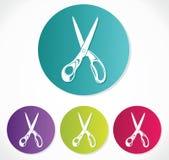 Scissors symbolen Royaltyfri Fotografi