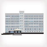 Vektorillustration av sjukhusbyggnad Royaltyfria Bilder