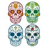 Vektorillustration av skallen dagen av döden Arkivfoto