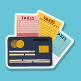 Vektorillustration av skatter, redigerbar symbol Arkivbilder