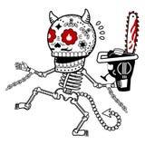 Vektorillustration av skelett Arkivfoto