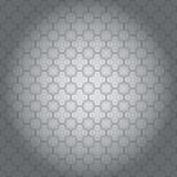 Vektorillustration av skinande grå bakgrund med idérik geometrisk design stock illustrationer