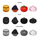 Vektorillustration av smak och produktsymbolen Samlingen av smak och att laga mat lagerf?r symbolet f?r reng?ringsduk vektor illustrationer