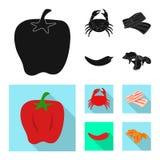 Vektorillustration av smak och produkttecknet Samling av smak och att laga mat vektorsymbolen f?r materiel vektor illustrationer