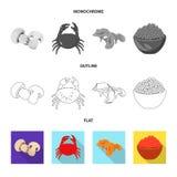 Vektorillustration av smak och produkttecknet Samling av smak och att laga mat vektorsymbolen f?r materiel stock illustrationer