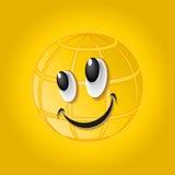 Vektorillustration av smileyen, logo vektor illustrationer