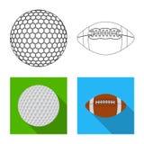 Vektorillustration av sport- och bollsymbolet Samling av sporten och idrotts- vektorsymbol för materiel royaltyfri illustrationer