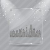 Vektorillustration av stadssilhouetten. EPS 10. Royaltyfri Fotografi