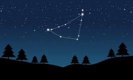 Vektorillustration av Stenbockenkonstellation Arkivbilder
