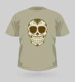 Vektorillustration av ten-shirt med sockerskallen Royaltyfria Foton