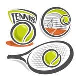 Vektorillustration av tennis Arkivbild