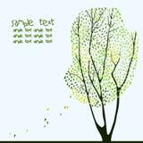 Vektorillustration av trädet Arkivfoto
