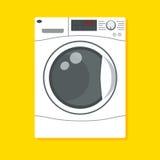 Vektorillustration av tvagningmaskinen Vektor Illustrationer