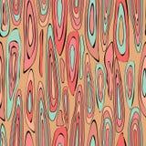 Vektorillustration av upprepade träkorntexturer i korall och svart vektor illustrationer